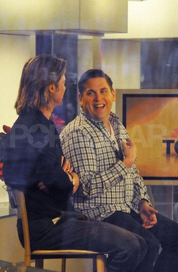 Brad Pitt and Jonah Hill had a laugh on The Today Show.