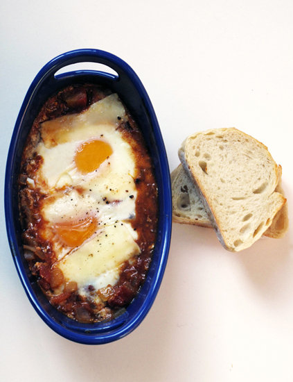 Baked Eggs in Tomato Sauce