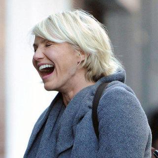 Cameron Diaz Laughing in London Pictures