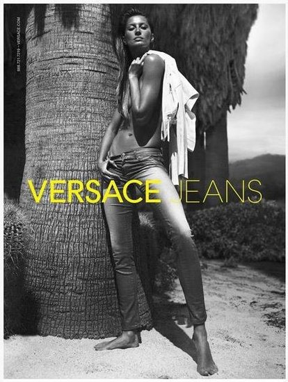 "Gisele Bundchen Poses Topless For Versace and Prays For ""Tommy"""