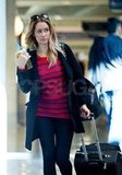 Lauren Conrad rocked stripes at LAX.