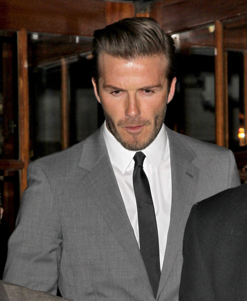 David Beckham made his way to a party in London.