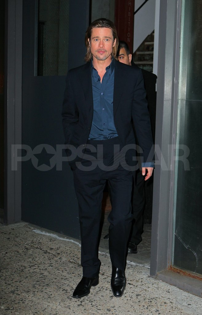 Brad Pitt left the NYC set of The Daily Show.