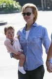 Nicole Kidman carried her baby Faith in LA.