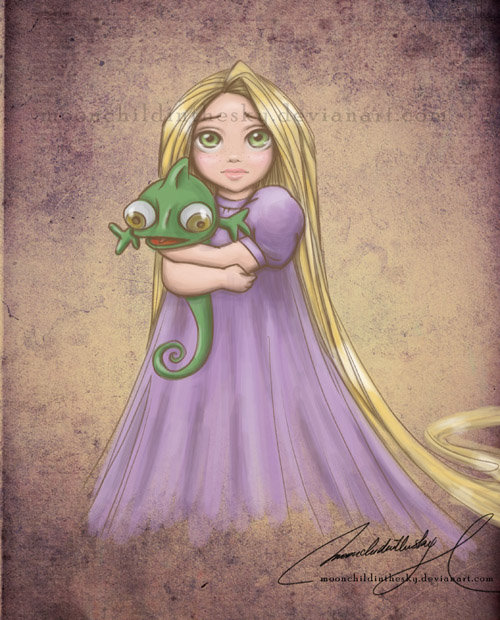 Child Princess Rapunzel