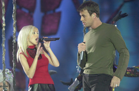 Christina Aguilera and Enrique Iglesias