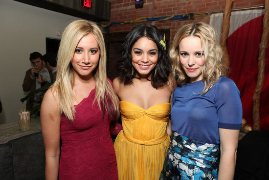 Ashley Tisdale, Vanessa Hudgens, and Rachel McAdams hung out at the Journey 2 afterparty.