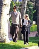 Kirsten Dunst and Garrett Hedlund walked in LA together.