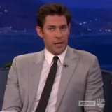 John Krasinski Talks First Date With Emily Blunt on Conan