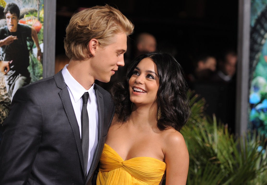 Vanessa Hudgens and Austin Butler shared a look of love.