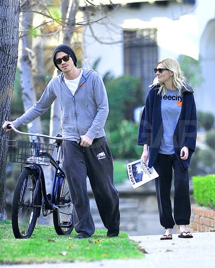 Cute couple Kirsten Dunst and Garrett Hedlund went for an LA bike ride.