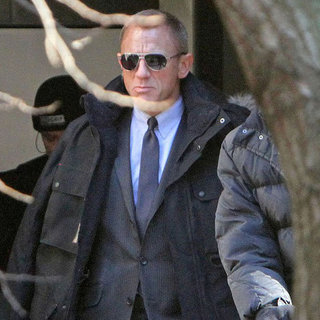 Daniel Craig Filming James Bond Movie Pictures in London