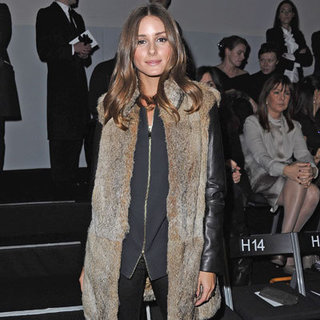 Celebrities Wearing Fur Vest and Leather Jacket