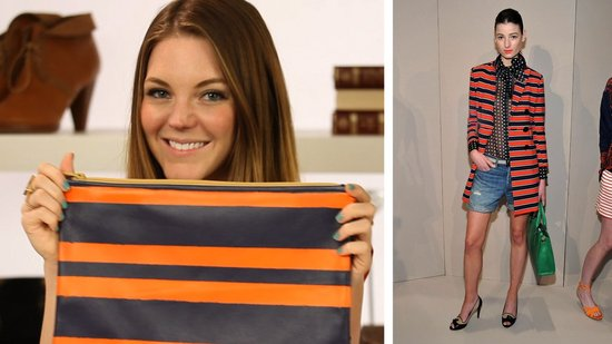 DIY: Striped Clutch Inspired By the Runways!