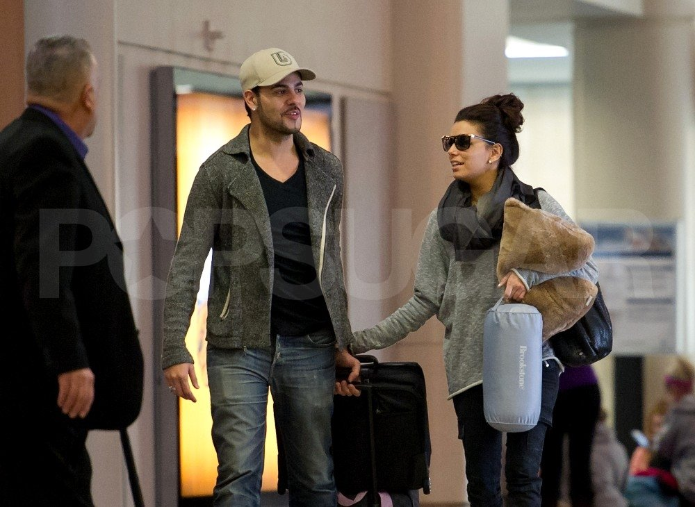 Eva Longoria and boyfriend Eduardo Cruz left LA together.