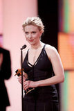 The Avengers star Scarlett Johansson accepted a best international award.