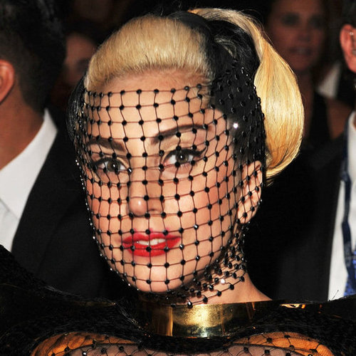 Lady Gaga's Hair and Makeup at the 2012 Grammy Awards