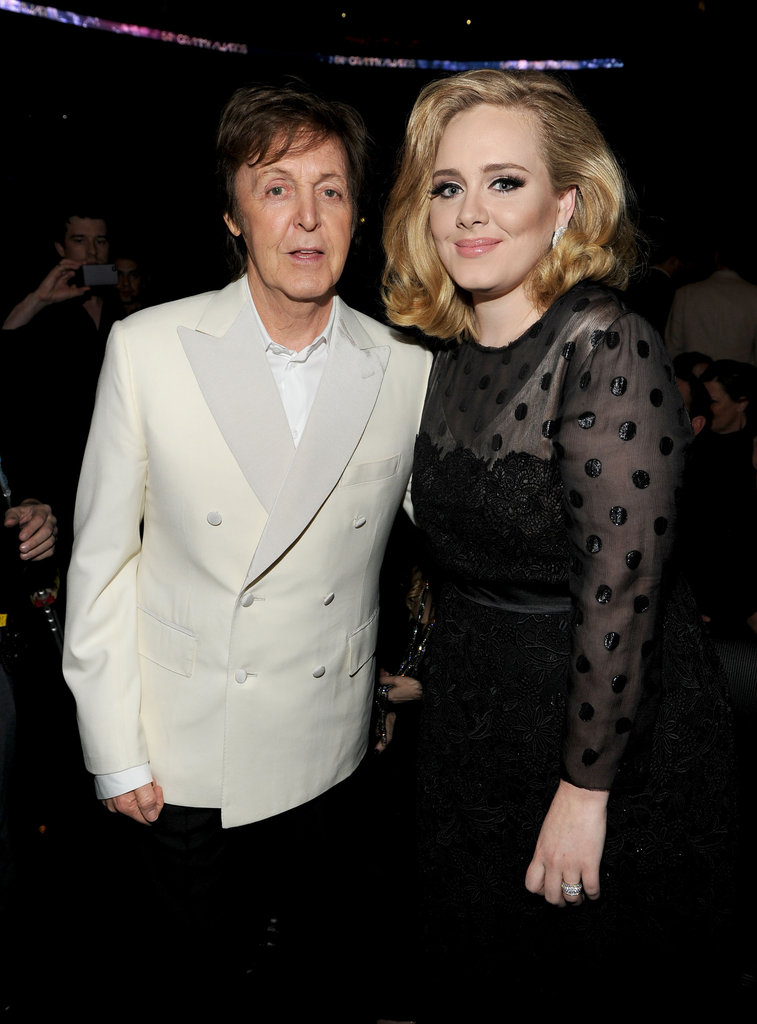 Paul McCartney and Adele