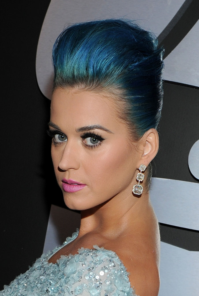 Katy Perry brought her blue hair to the Grammys.