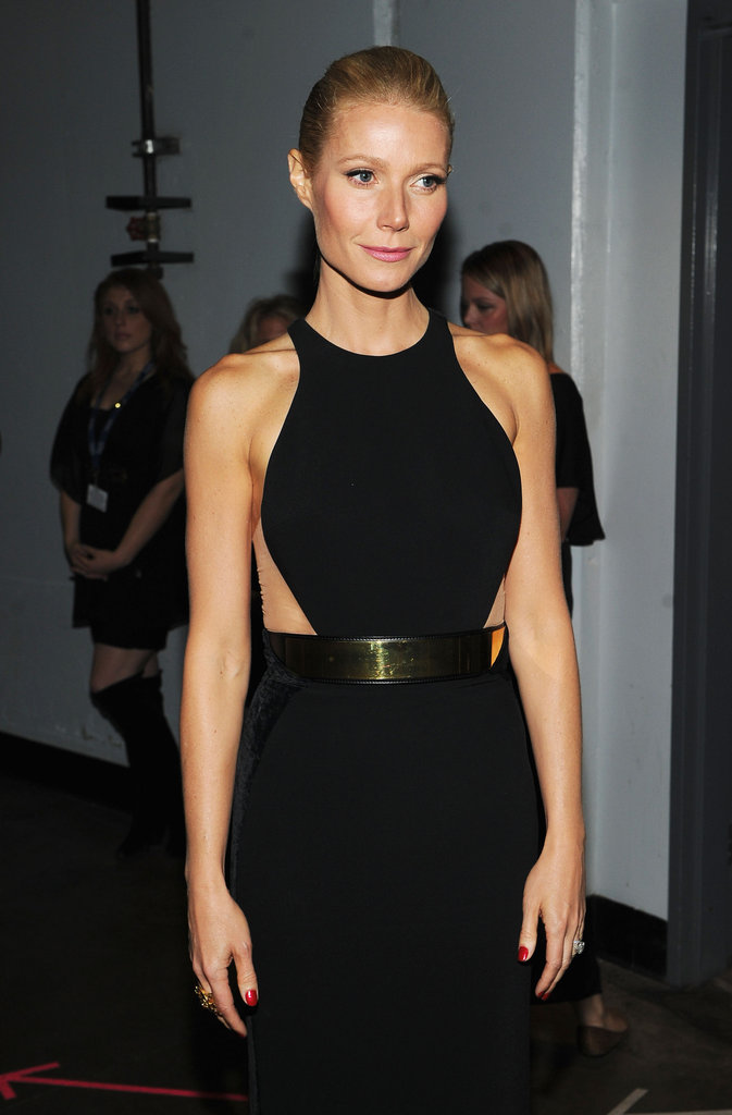 Gwyneth Paltrow was backstage at the 2012 Grammys.