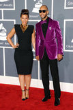 Alicia Keys and husband Swizz Beatz arrived at the 2012 Grammys.