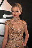 Taylor Swift rocked gold at the 2012 Grammys.
