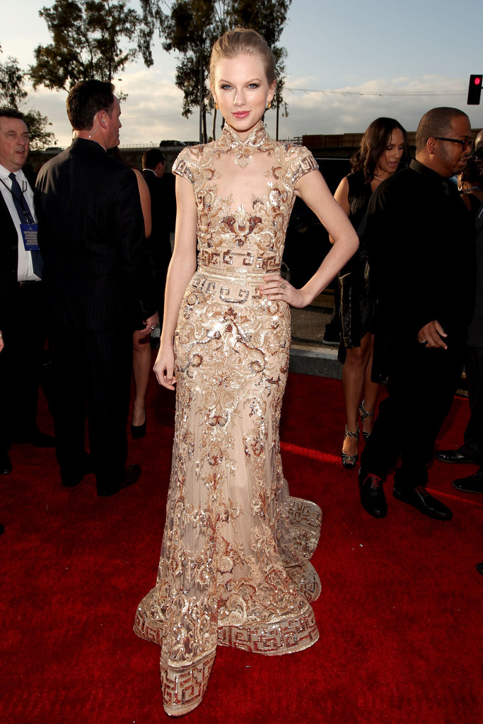 Taylor Swift wore Zuhair Murad to the Grammys.