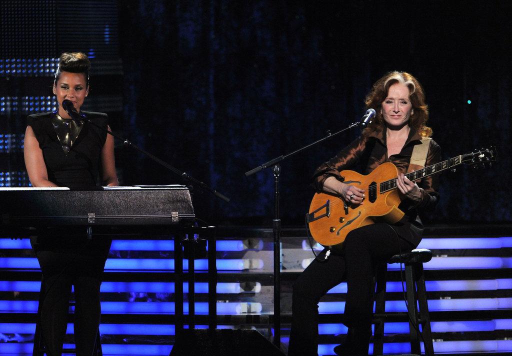 Alicia Keys and Bonnie Raitt performed a duet.