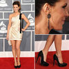 Kate Beckinsale Looks Chic in Zuhair Murad Cream Dress on the 2012 Grammy Awards Red Carpet