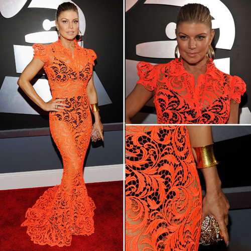 Fergie at Grammys 2012