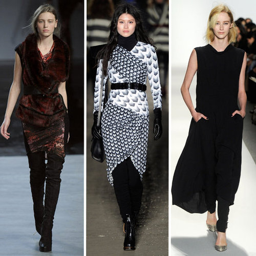 Dresses Over Pants: Fall 2012 Styling Trend