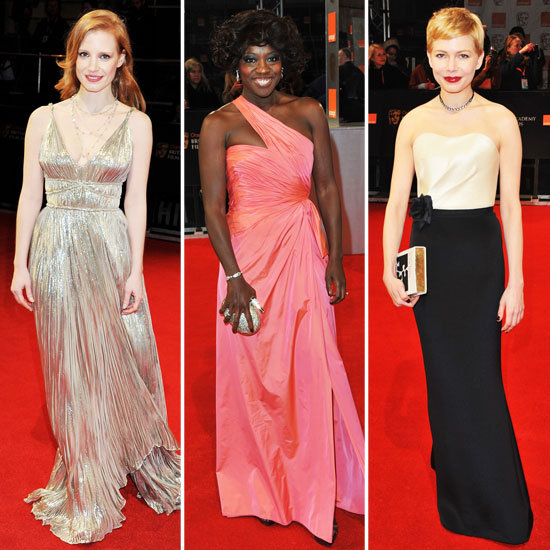 Michelle Williams, Viola Davis, and More Dressed to Impress at the BAFTA Awards