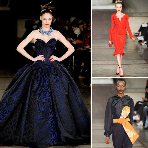 Review and Pictures of Zac Posen 2012 Fall New York Fashion Week Runway Show