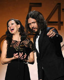 Joy Williams laughed with John Paul White during the 2012 Grammys.