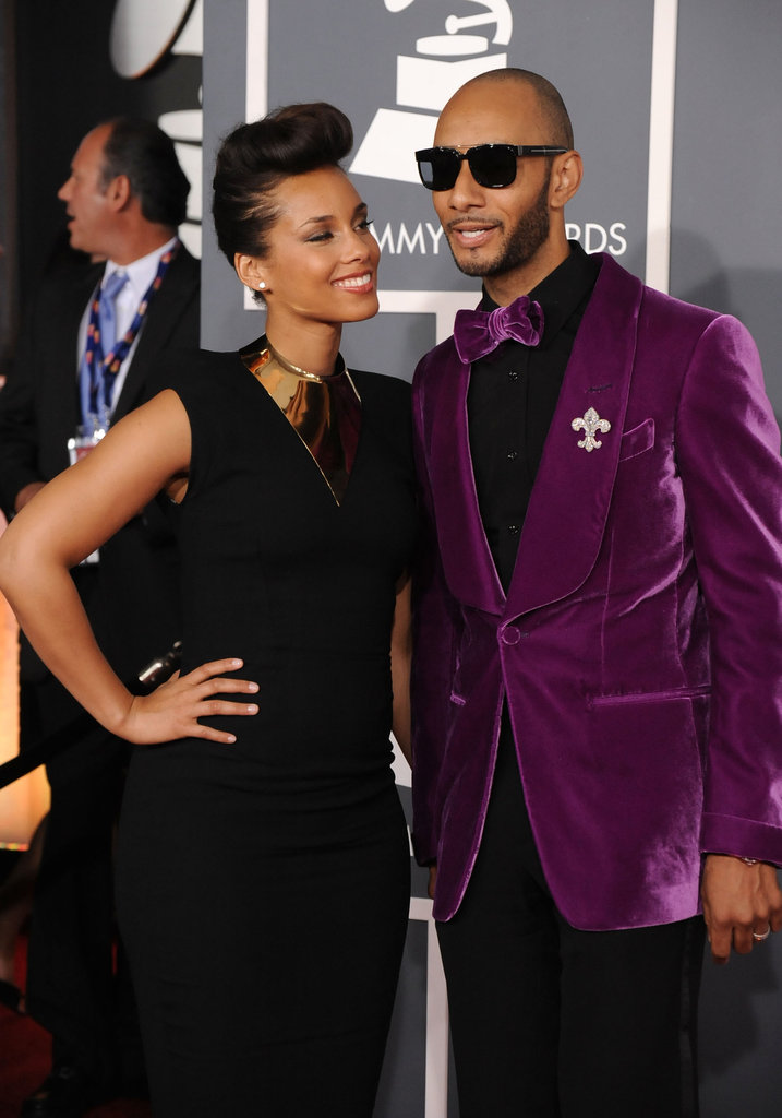 Alicia Keys gives her husband Swizz Beatz a sweet look.