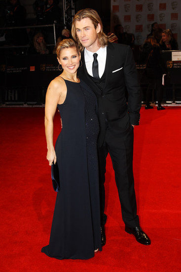 Elsa Pataky and Chris Hemsworth(2012 BAFTA)
