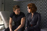 Jeremy Renner as Hawkeye and Scarlett Johansson as Black Widow in The Avengers.  Photo courtesy of Disney