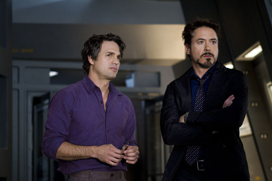 Mark Ruffalo as The Hulk and Robert Downey Jr. as Iron Man in . Photo courtesy of Disney