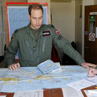 Prince William Pictures on Falklands Deployment