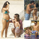 Pregnant Kourtney Kardashian Breaks Out Her Bikini For a Tropical Getaway With Scott and Mason