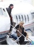 Jessica Simpson and Eric Johnson Jet Home Following the Super Bowl