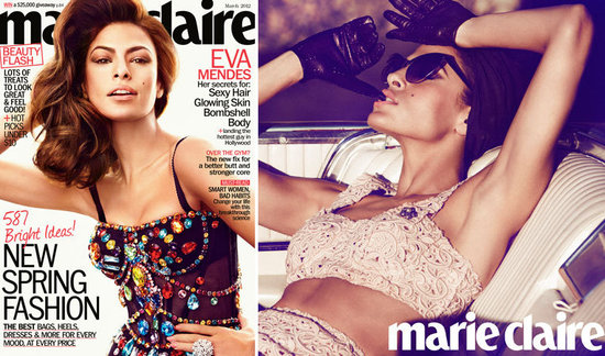 "Eva Mendes on Feeling ""Creatively Satisfied"" With Ryan Gosling, Her Insecurities, and More in Marie Claire"