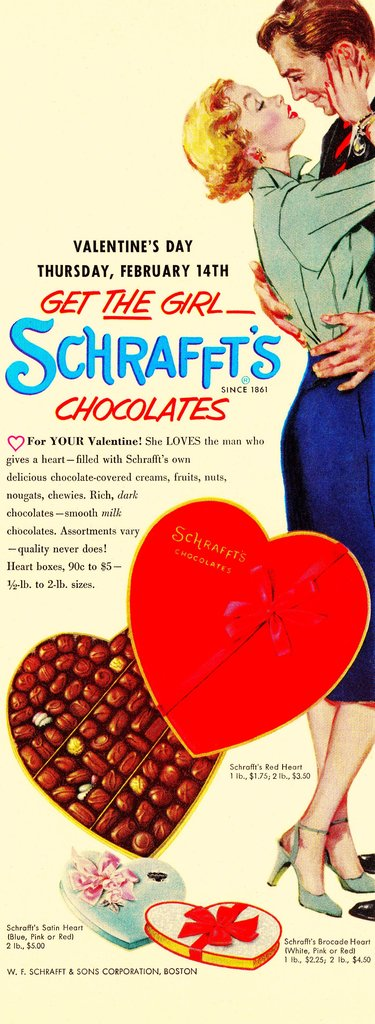 And apparently chocolate's the way to a woman's, er, heart.