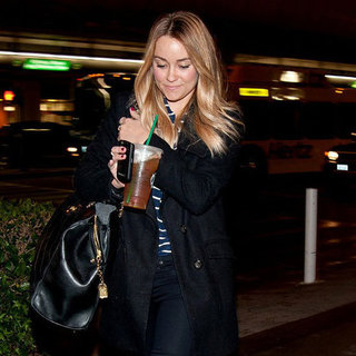 Lauren Conrad With Starbucks at LAX Pictures