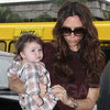 Victoria and Harper Beckham at New York Fashion Week (Video)