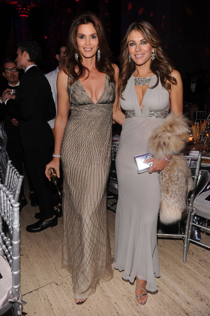 Cindy Crawford and Elizabeth Hurley