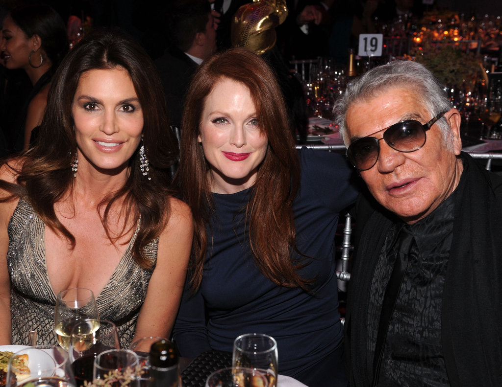 Cindy Crawford, Julianne Moore and Roberto Cavalli