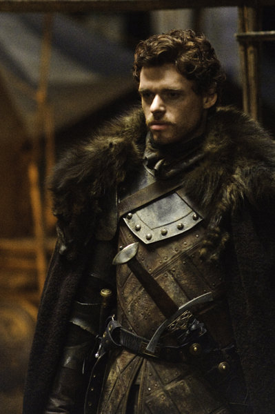 Richard Madden as Robb Stark on Game of Thrones.  Photo courtesy of HBO