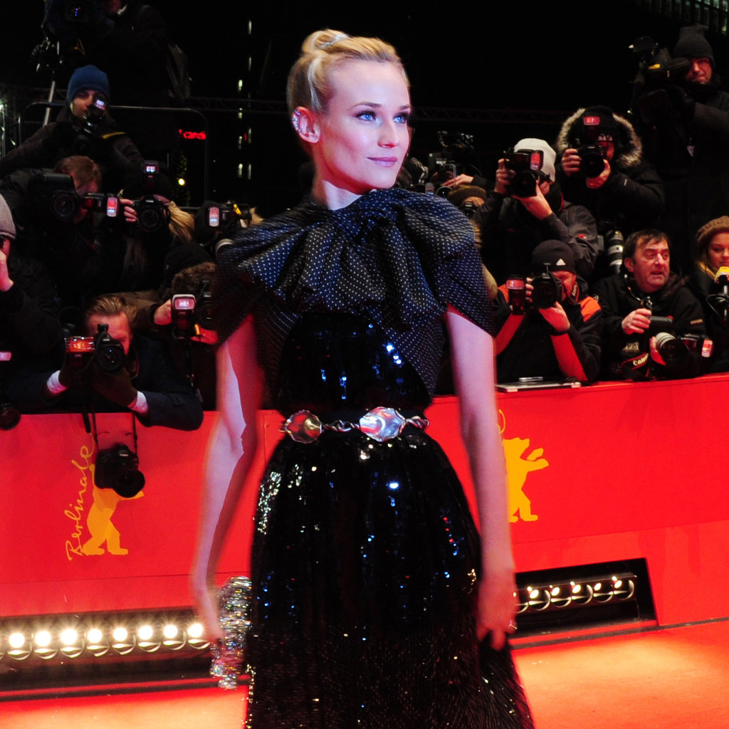 Diane Kruger struck a pose for photographers.