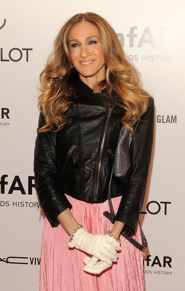 Sarah Jessica Parker wore white gloves.